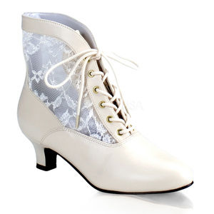 """Shoes - 2"""" High Heel Lace Up Victorian Booties Ankle Boots"""